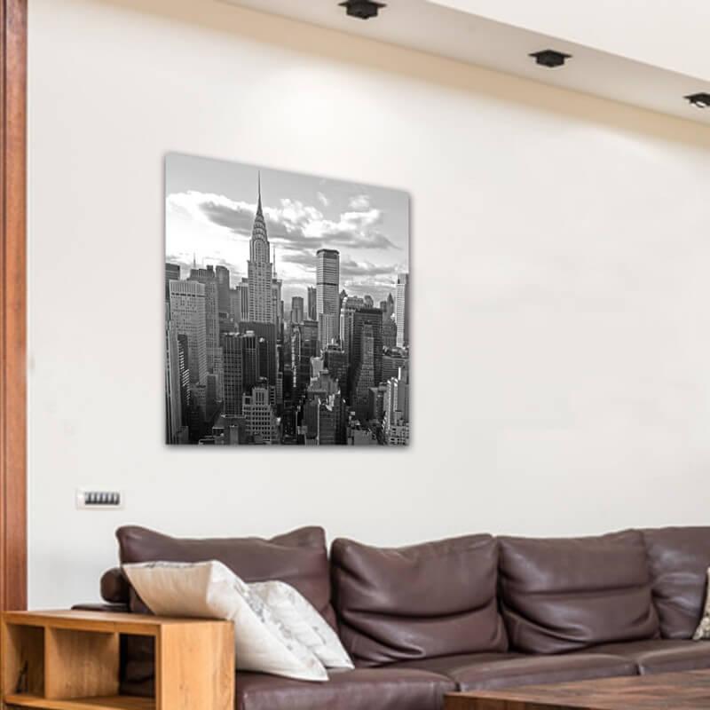 cuadros modernos fotografía torre Chrysler. B/N