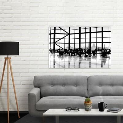 cuadros modernos fotografía espera con vistas a Nueva York