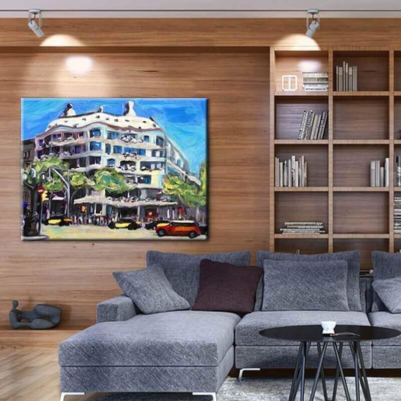 cuadros modernos ciudades  la Pedrera de Barcelona