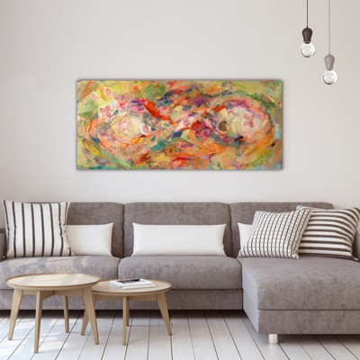 modern abstract paintings to decorate the living room-close to the surface