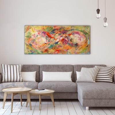 tableaux abstraits modernes-la peau en profondeur