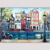 cuadro moderno urbano ciudad-casas en Amsterdam