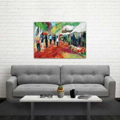 cuadros modernos urbanos para el salón-las Ramblas III