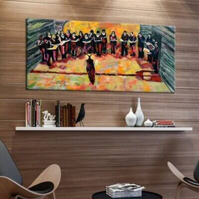 cuadros modernos musicales para decorar tu hogar -coral
