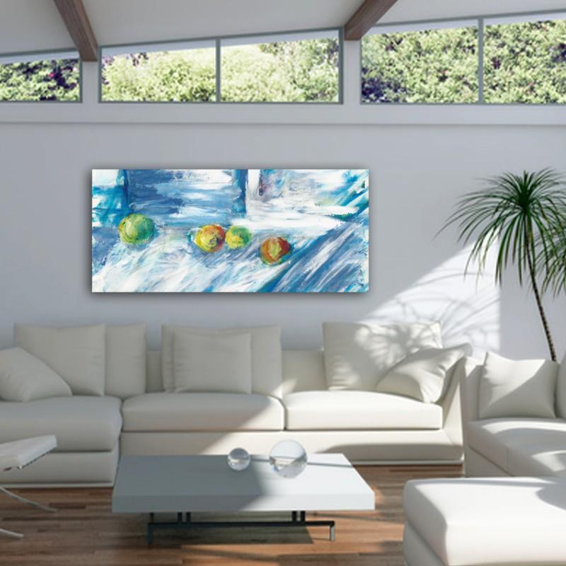 cuadros modernos abstractos de bodegones para el salón-calma y movimiento I