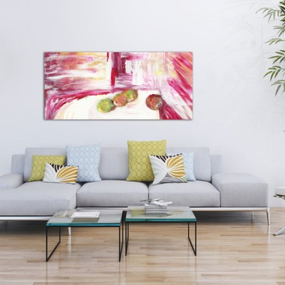 abstract modern paintings to decorate the living room-calm and movement II