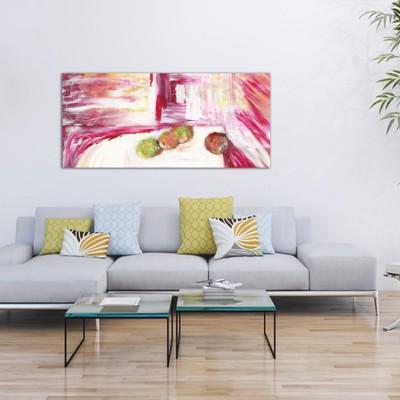 Tableaux modernes abstraits pour le salon-calme et mouvement II