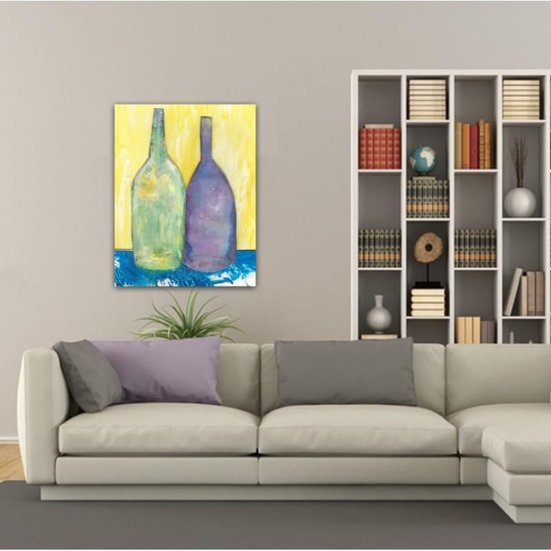 Tableaux modernes abstraits pour le salon-mémoire partagée