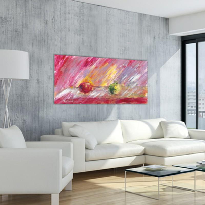 cuadros modernos abstractos de bodegones para el salón-distanciarnos