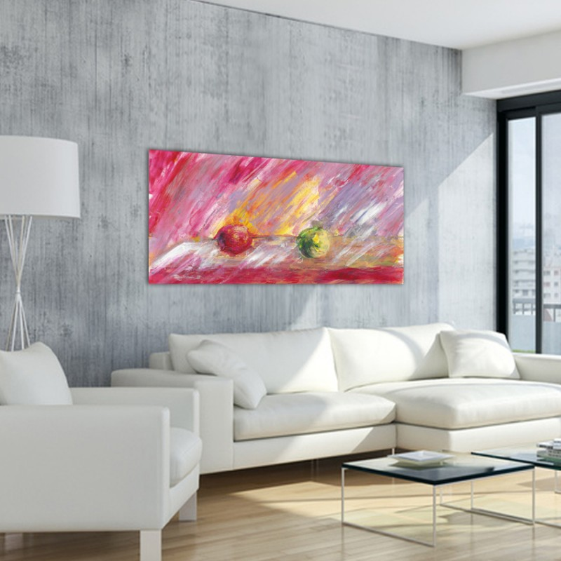 Tableaux modernes abstraits de pommes pour le salon-nous éloigner