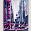 cuadros abstractos urbanos para el dormitorio-Manhattan Nueva York