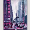abstract urban paintings for the bedroom-Manhattan, New York