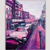modern urban painting for the bedroom -street in New York