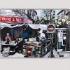 abstract urban paintings-market in New York