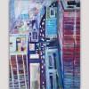 cuadros abstractos urbanos de ciudades-Nueva York desde arriba