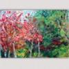 cuadros modernos paisajes para el comedor-árboles en otoño