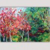 modern Landscape paintings for the bedroom-trees in autumn
