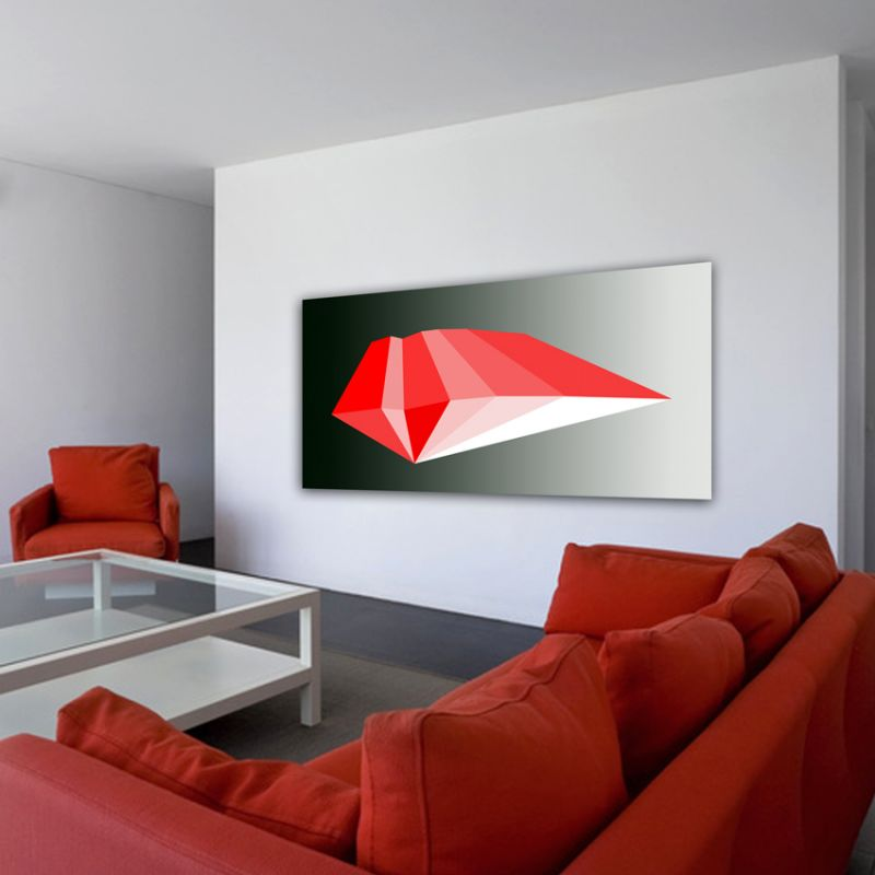 minimalist modern geometric paintings to decorate the living room-Polyhedron