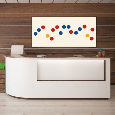 Geometric modern minimalist paintings to decorate the office- color circles sequence