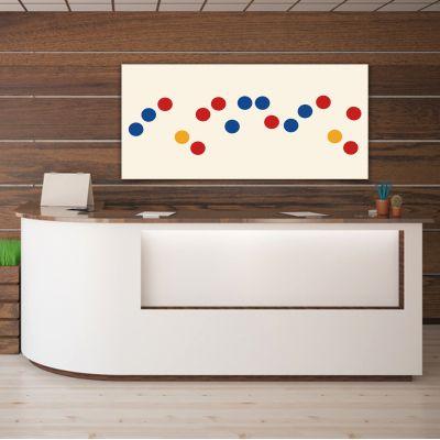 Tableaux abstraits minimalistes géométriques pour le bureau-séquence de cercles de couleur