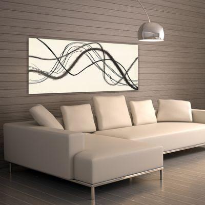 Tableaux abstraits minimalistes géométriques pour le salon-trajectoire