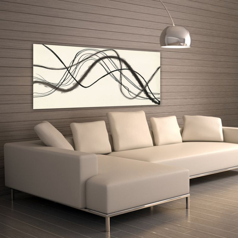 Geometric minimalist modern paintings to decorate the living room-trajectory