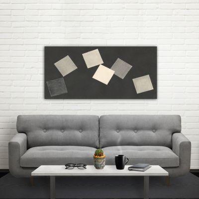 quadre abstracte geomètric -joc de cartes-