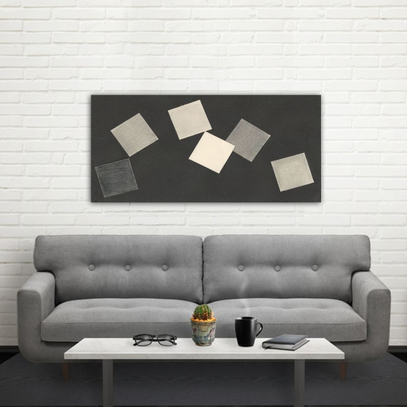 minimalist modern geometric paintings to decorate the living room-cards game