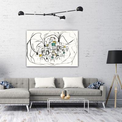 cuadros minimalistas modernos geométricos para el salón-polución