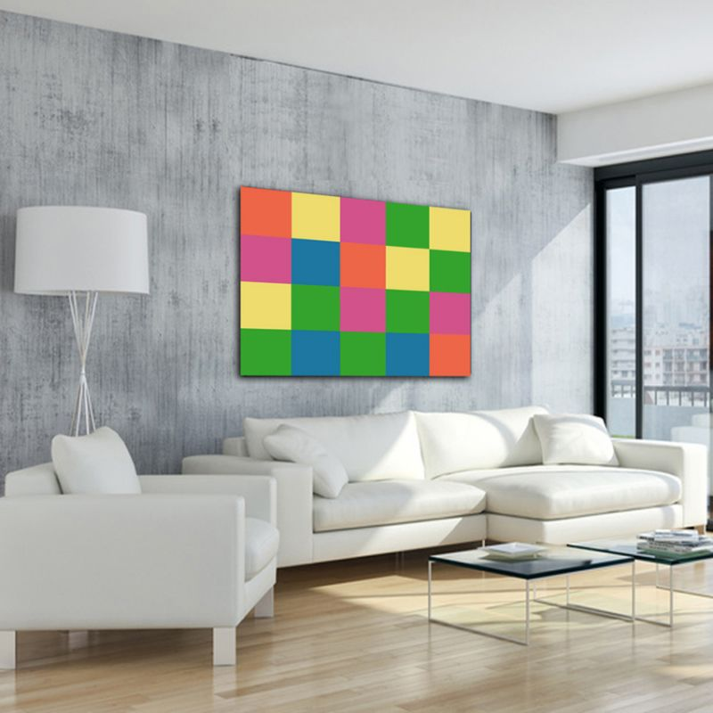 minimalist modern geometric paintings to decorate the living room-multicolored sequence