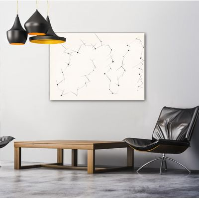 Tableaux minimalistes modernes géométriques pour le salon-les connexions