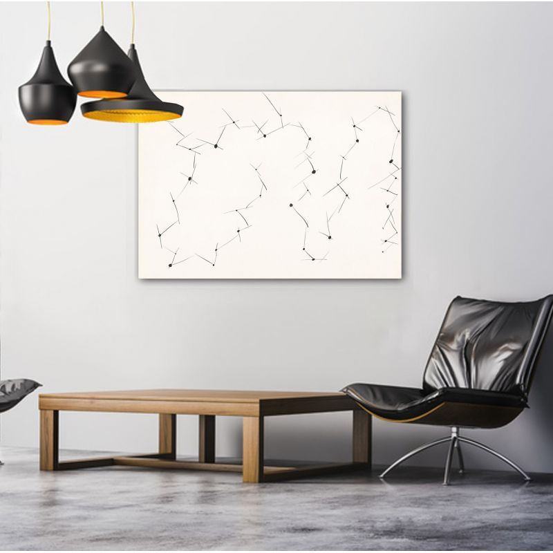 Geometric minimalist abstract paintings to decorate the living room-connections