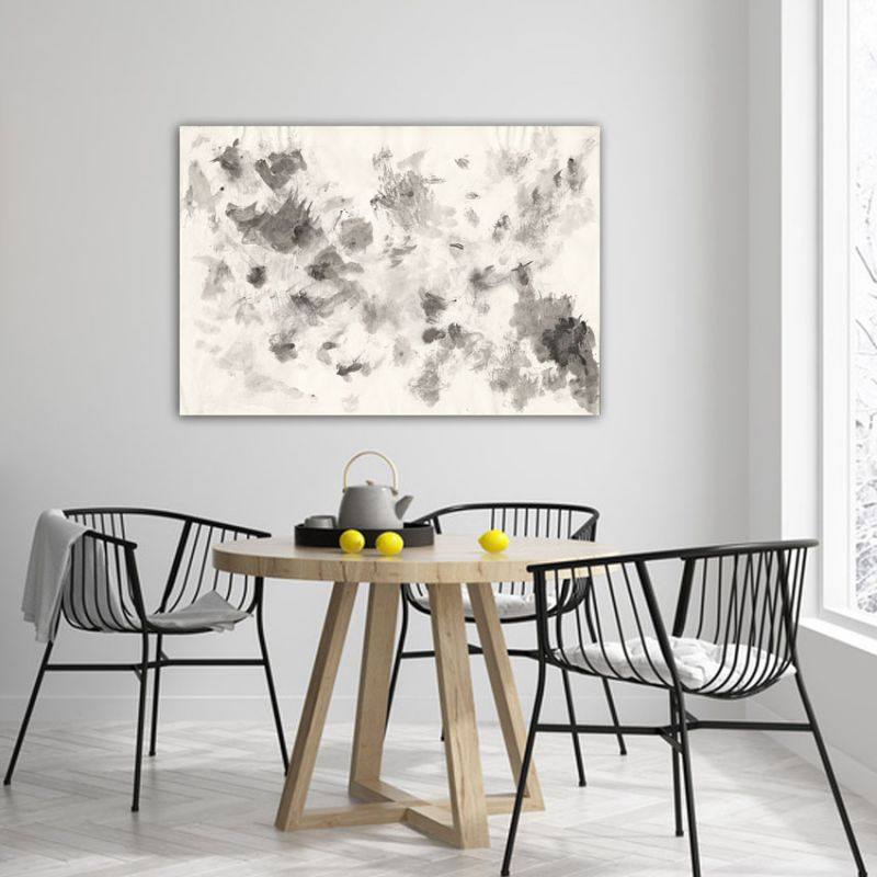 minimalist geometric abstract paintings to decorate the dining room-nebula