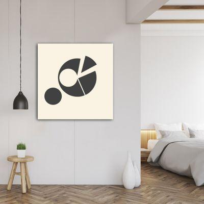 quadre abstracte geomètric -cercle fragmentat-