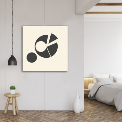 Geometric abstract paintings to decorate the bedroom-fragmented circle