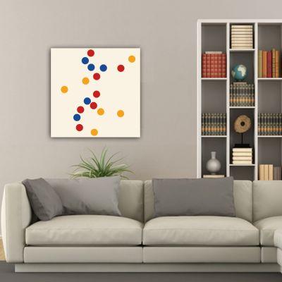 Tableaux abstraits minimalistes géométriques pour le salon-concentration de cercles colorés