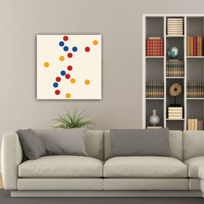 Geometric minimalist abstract paintings to decorate the living room-concentration of colored circles