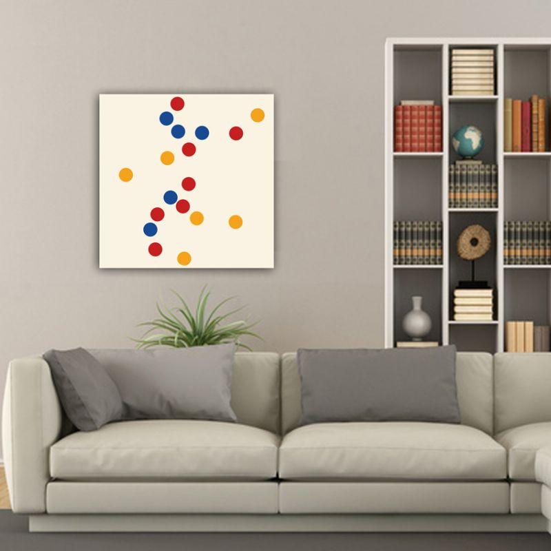 quadres moderns minimalistes geomètrics pel menajdor-concentració de cercles de colors-