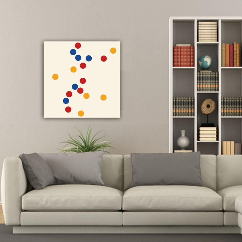 Cuadro moderno geométrico concentración de círculos de colores
