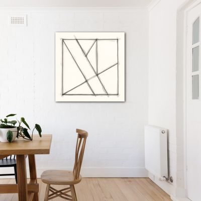 modern minimalist geometric paintings to decorate the dining room-crystals