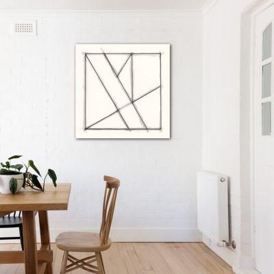 quadres abstractes minimalistes geomètrics pel menjador-vidres