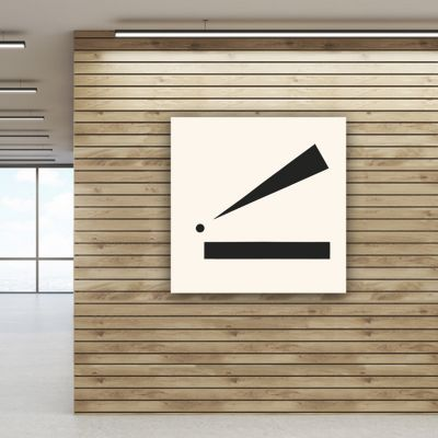 Geometric modern minimalist paintings to decorate the living room-point and line