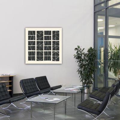 Tableaux abstraits minimalistes géométriques pour le couloir- puzzle