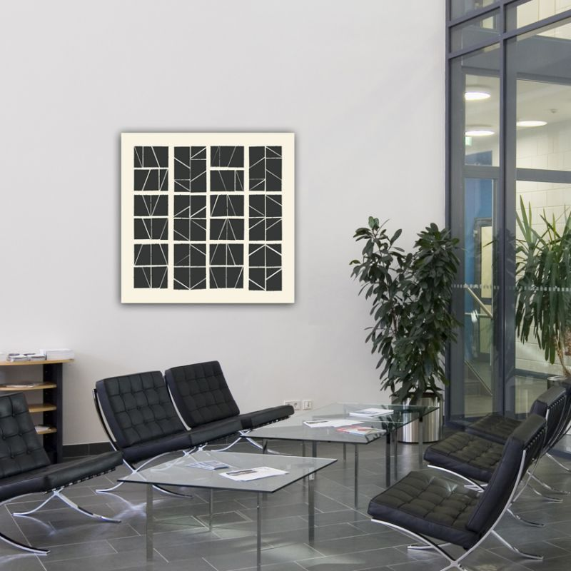 Geometric minimalist abstract paintings to decorate the hall- puzle