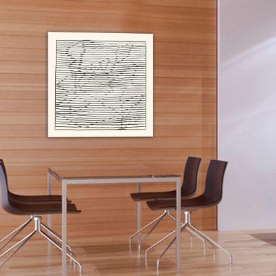 Tableaux abstraits minimalistes géométriques pour le salon-rosier