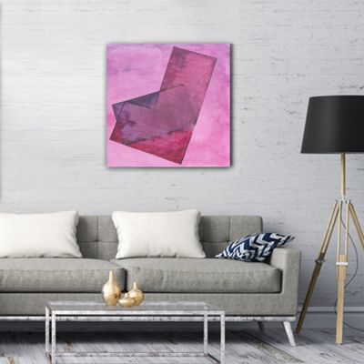 abstract painting-pink transparency