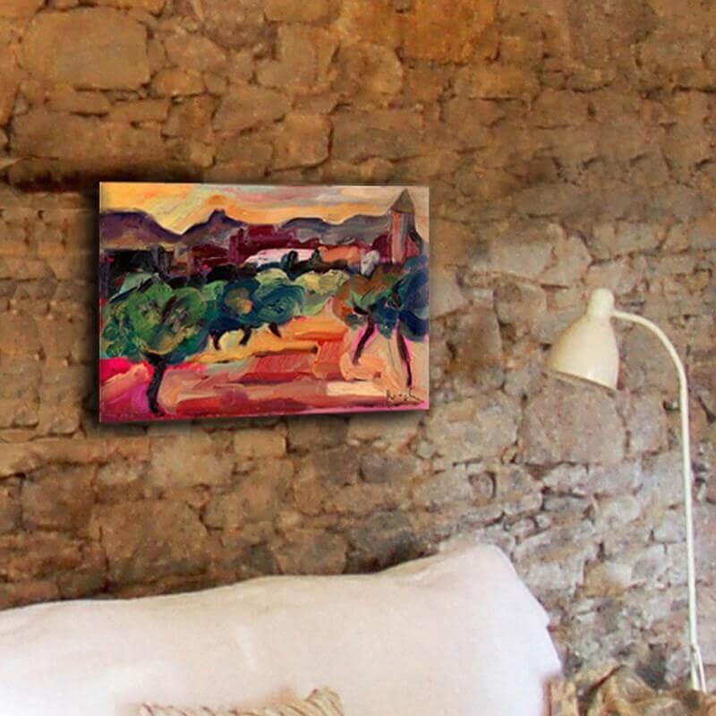 cuadros modernos paisajes campos