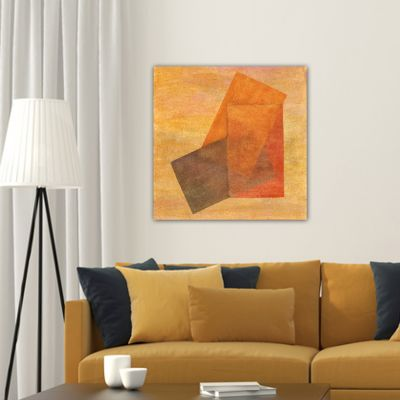 abstract painting-ocher transparency