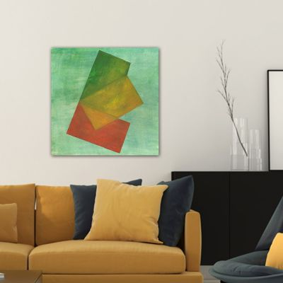 tableau abstrait-transparence verte