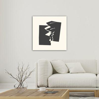 cuadros modernos minimalistas geométricos para el salón-fractura